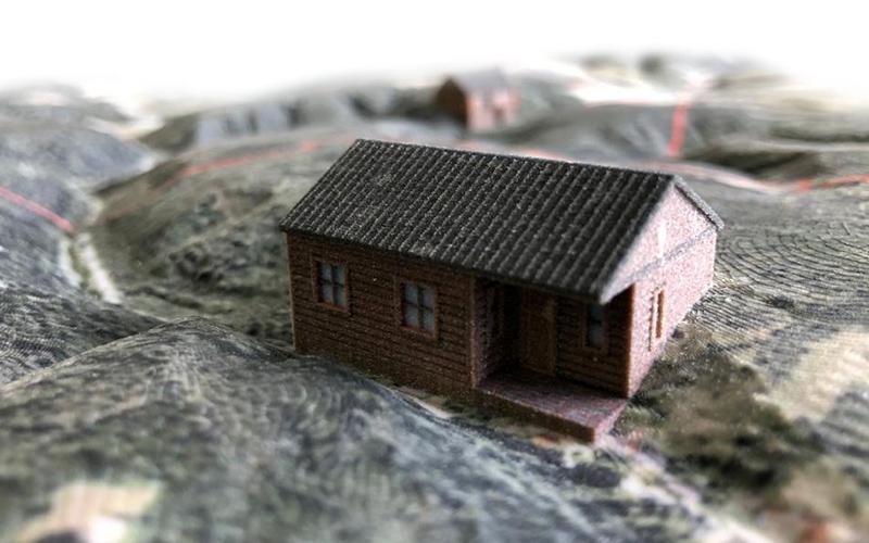 Hütte 3D Modell Jagdrevier